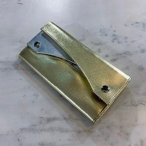 Gold Silver Clutch Wallet
